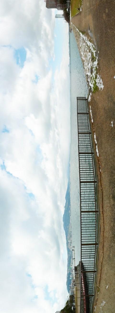 琵琶湖パノラマ写真-湖岸